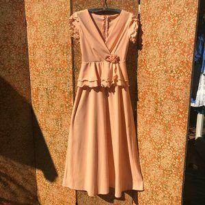70s Prom Dress Vintage Boho Romantic Gown 1970s Fa